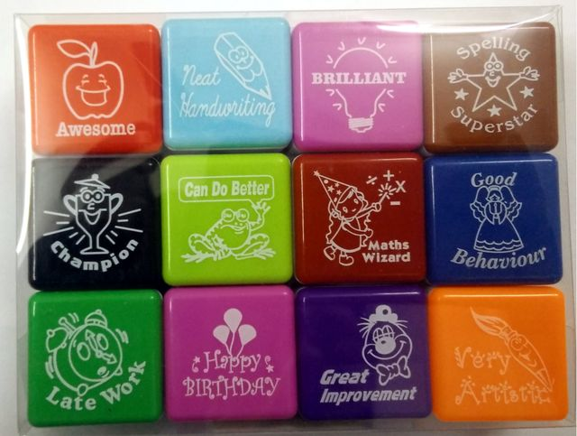 Divine Teacher Collection #2 (12 Pcs Set) Pre-Inked Stamp