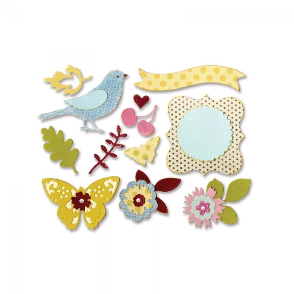 Sizzix Thinlits Die Set 23PK - Floral Wreath - 660256
