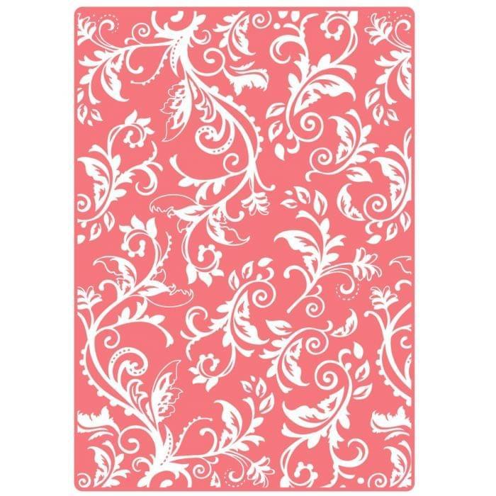 Sizzix Textured Impressions Plus Embossing Folder - Botanical Swirls Item - 660579