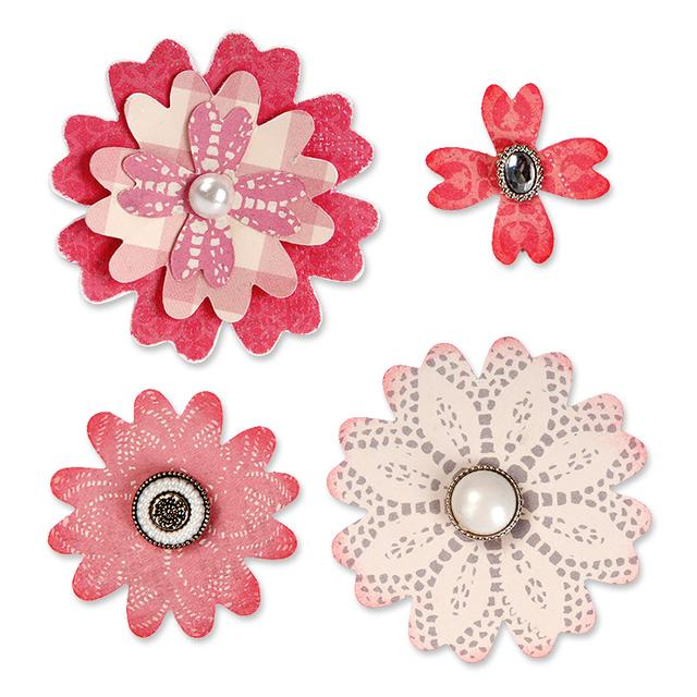 Sizzix Bigz Die - Flower Layers w/Heart Petals - 658053