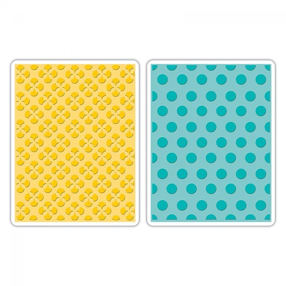 Sizzix Embossing Folders 2PK - Polka Dots & Starflowers Set - 658990