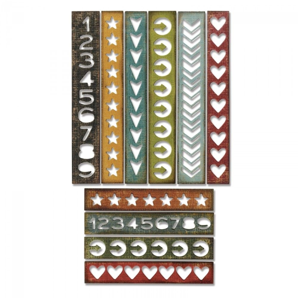 Sizzix Thinlits Die Set 10PK - Shape Strips - 660226