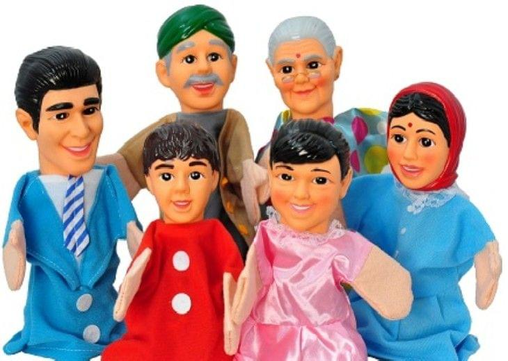 Indian Family, Large Hand Puppets  (Pack of 6)