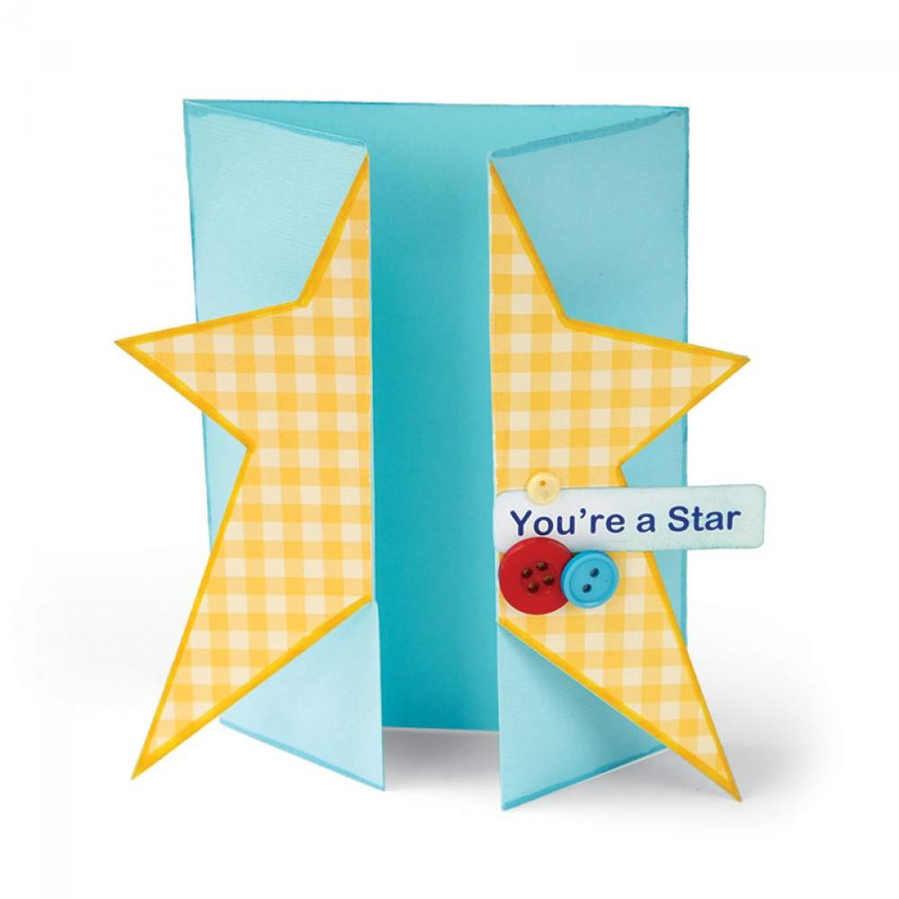 Sizzix Bigz XL Die - Card, Star Gatefold - A11035