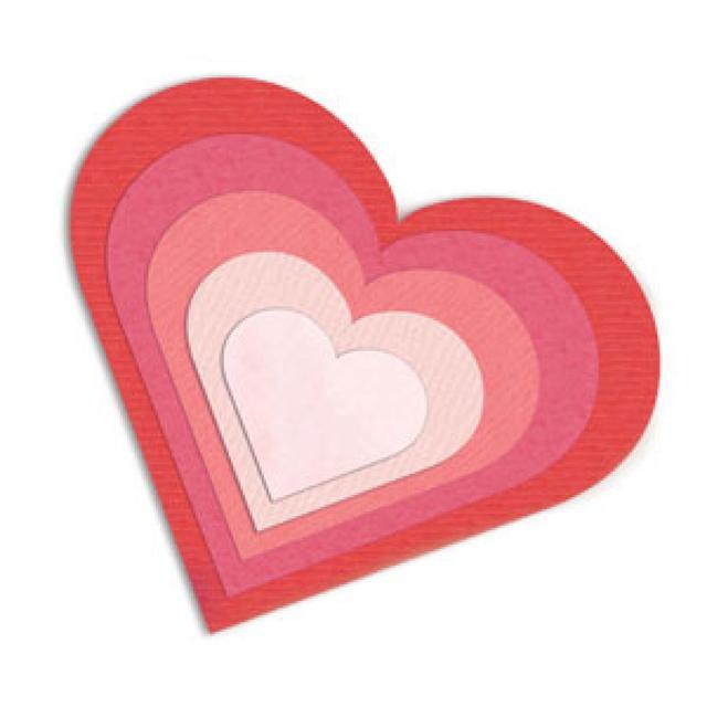 Sizzix Framelits Die Set 6PK - Hearts - 657561
