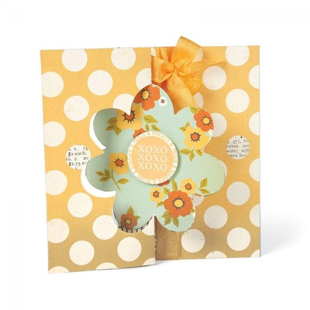 Sizzix Movers & Shapers L Die - Card, Flower Flip-its - 657589