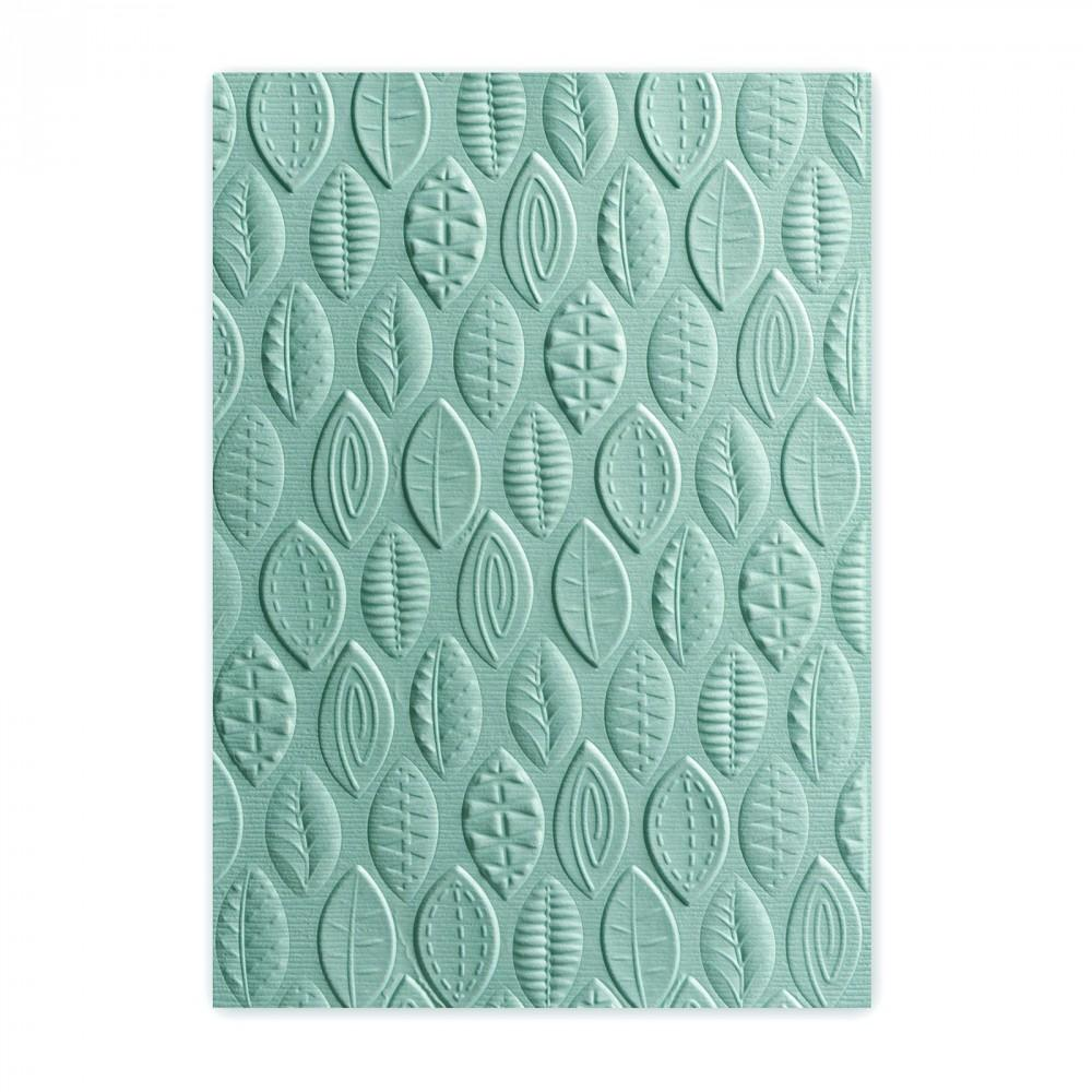 Sizzix 3-D Textured Impressions Embossing Folder - Leaves - 661260