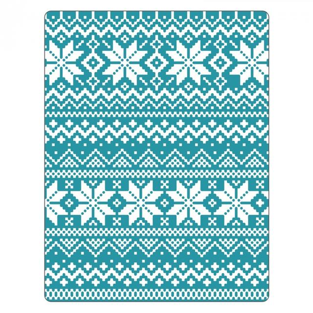 Sizzix Texture Fades Embossing Folder - Holiday Knit #2 - 661366