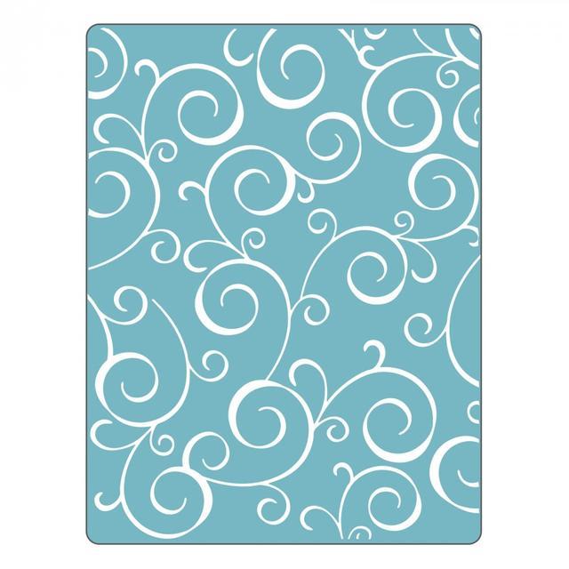 Sizzix Textured Impressions Embossing Folder - Swirls #4 - 661361