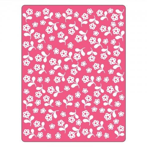 Sizzix Textured Impressions Embossing Folder - Flowers - 661356