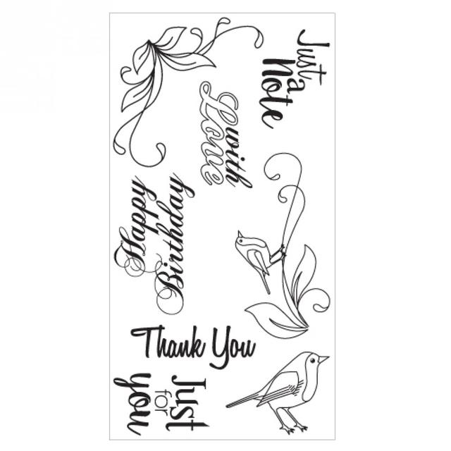 Sizzix Clear Stamps - Birds & Phrases Item - 660633