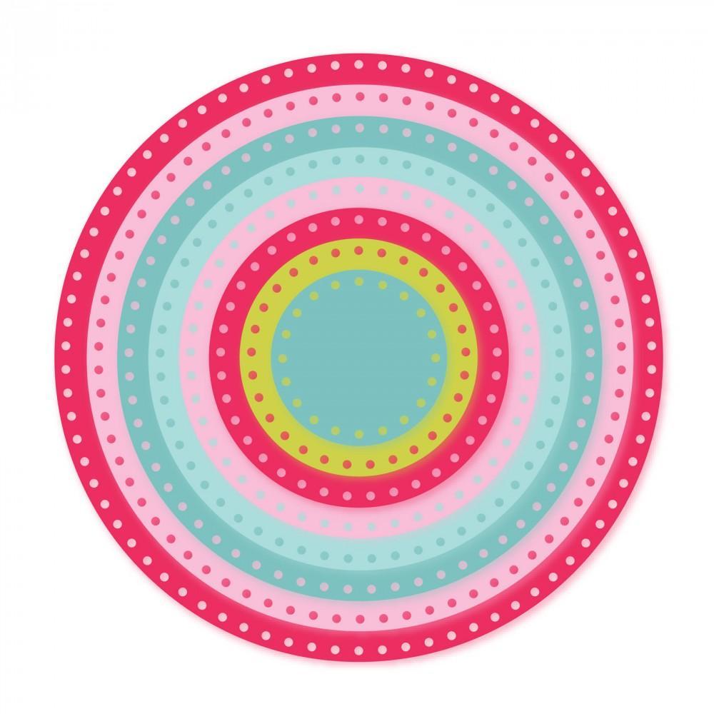 Sizzix Framelits Die Set 8PK - Circles, Dotted-661560