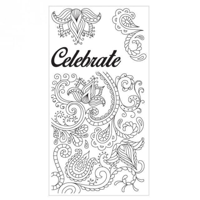 Sizzix Clear Stamps - Celebrate Flowers -  660635