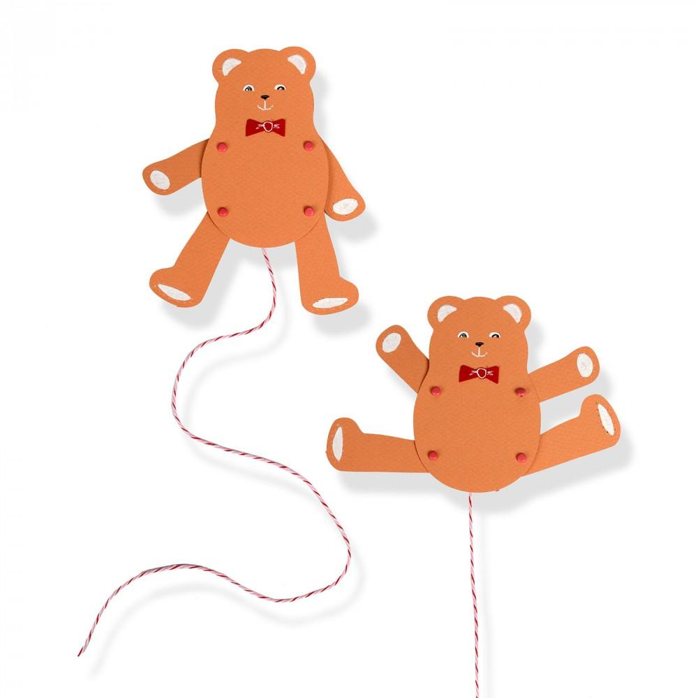 Sizzix Bigz Die - Jumping Jack, Teddy Bear- A11143