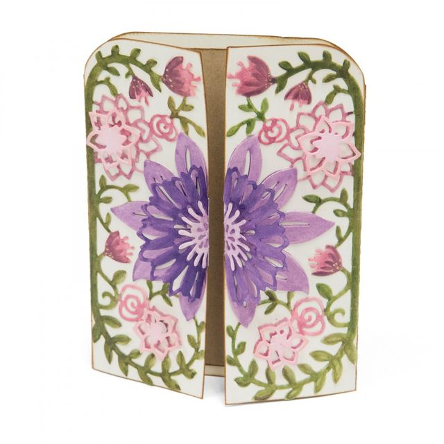 Sizzix Thinlits Die Set 5PK - Card Edge, Flowers - 661940