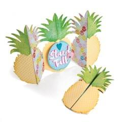 Sizzix Thinlits Die Set 10PK - Card, Pineapple Fold-a-Long - 662727