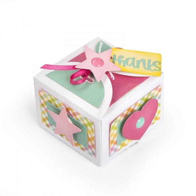 Sizzix Thinlits Die Set 10PK - Box, Favor w/Thanks - 662805