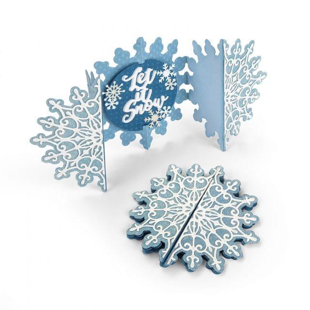 Sizzix Thinlits Die Set 5PK - Card, Snowflake Fold-a-Long - 663175