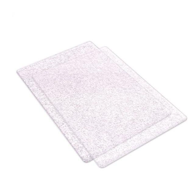 Sizzix Accessory - Cutting Pads, Standard, 1 Pair (Clear w/Silver Glitter)- 662141