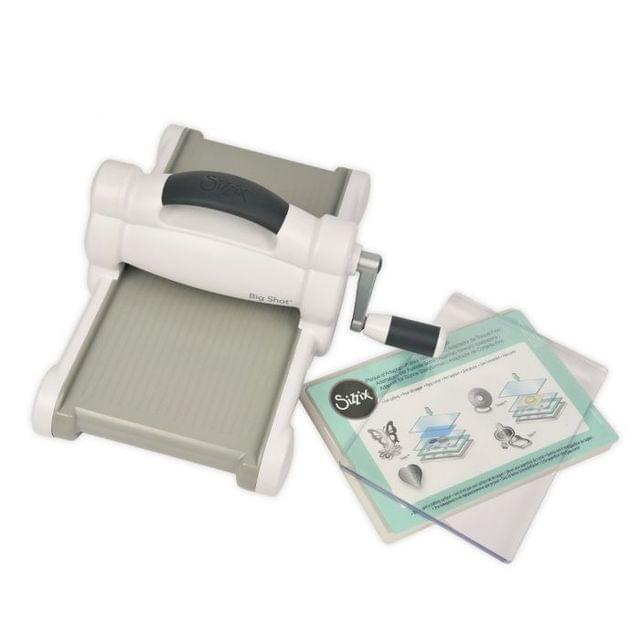 Sizzix Big Shot Starter Kit (White & Gray) with My Life Handmade Cardstock & Fabric Item-  661545