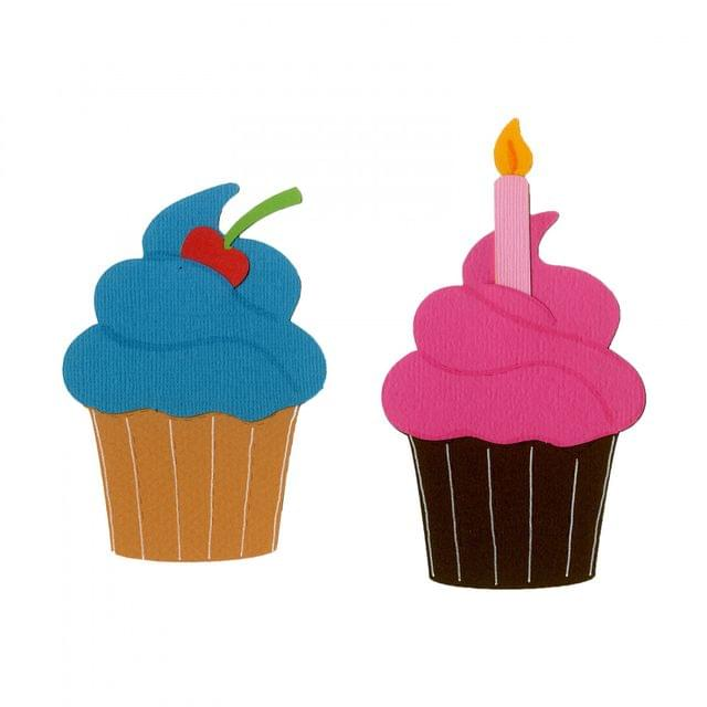 Sizzix Bigz Die - Cupcake w/Candle & Cherry -A11269