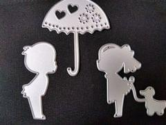 Girls & Boy W/ Umbrella- 3Pk - CPMD002