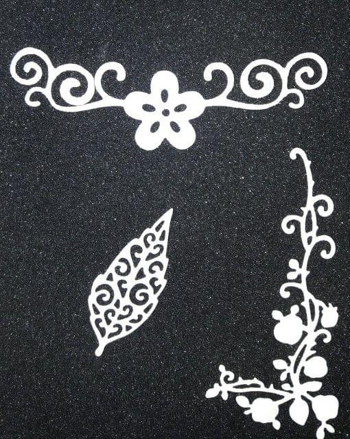 Leaf w/ Flower Borders 3PK- CPMD005