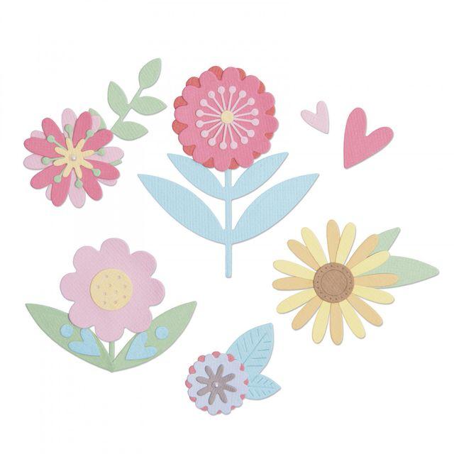 hinlits Die Set 15PK - Flower Set by Lisa Jones-663459