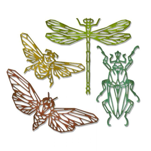 Sizzix Thinlits Die Set 4PK - Geo Insects Item: 664180