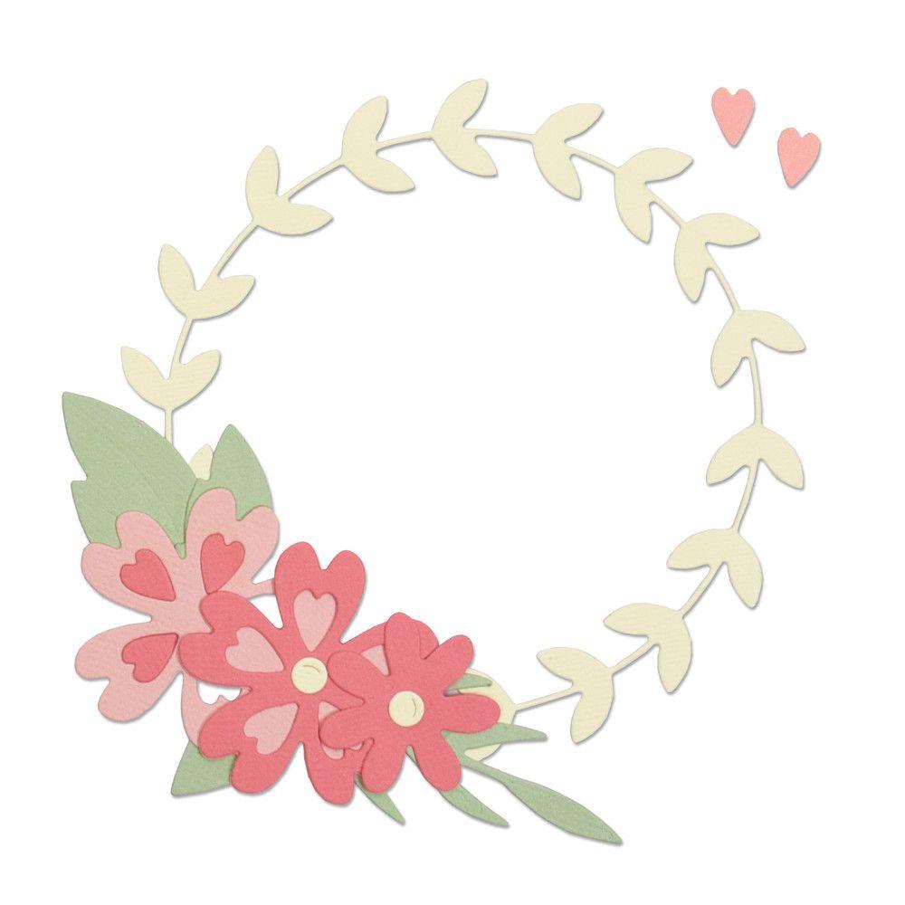 Thinlits Die Set 9PK - Floral Wreath-663377