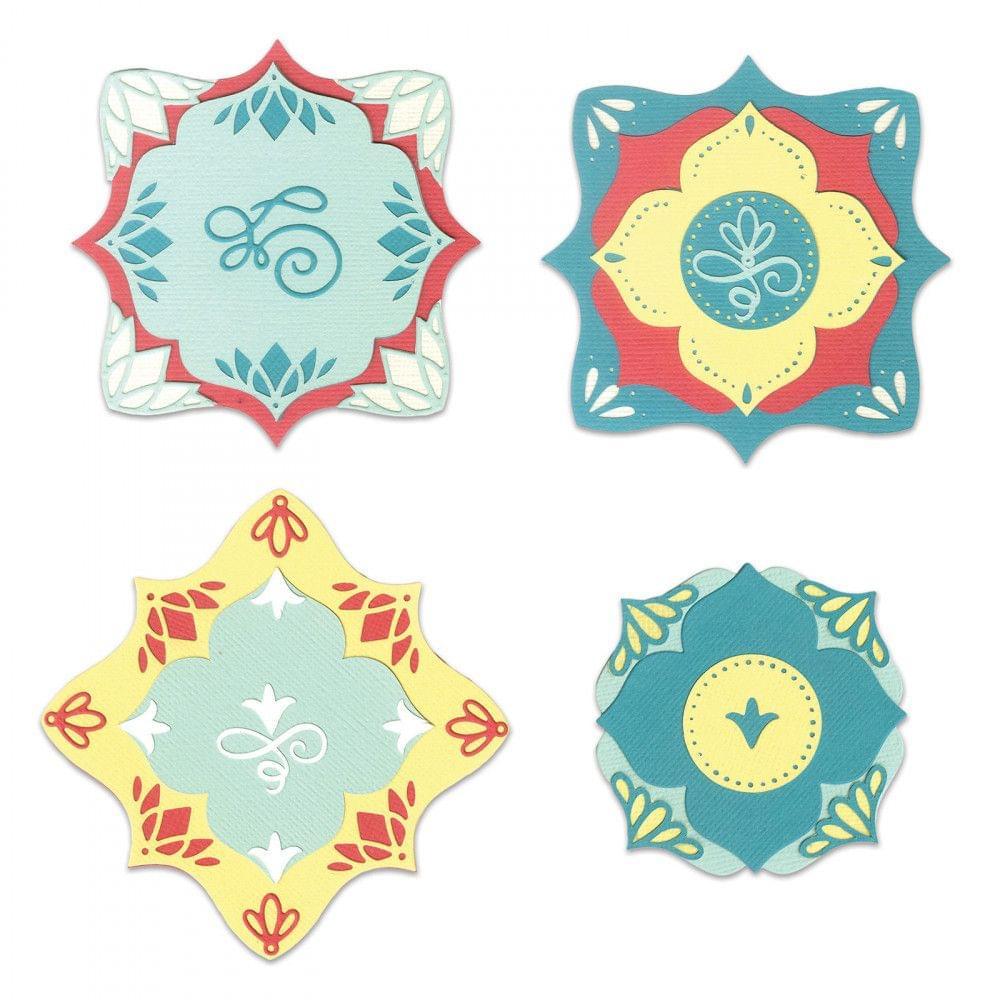 Thinlits Die Set 14PK - Corners & Labels-663592