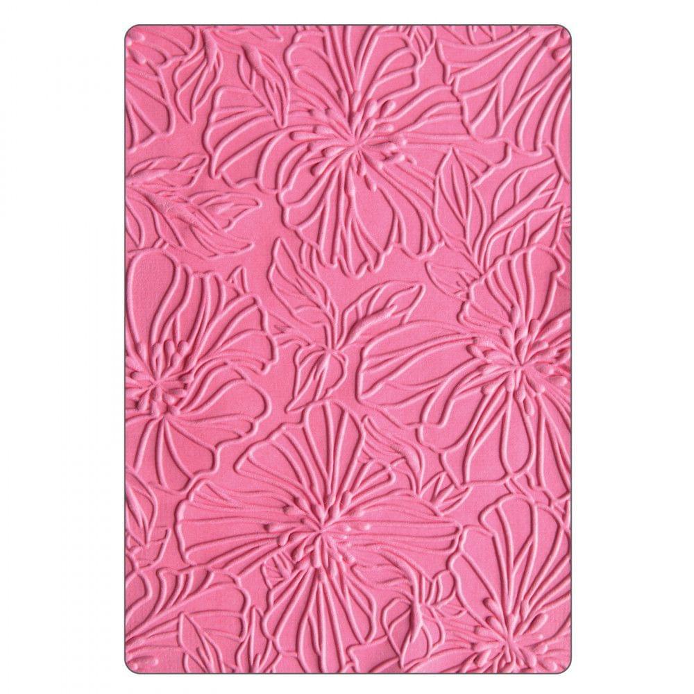 3-D Textured Impressions Embossing Folder - Azaleas-663601