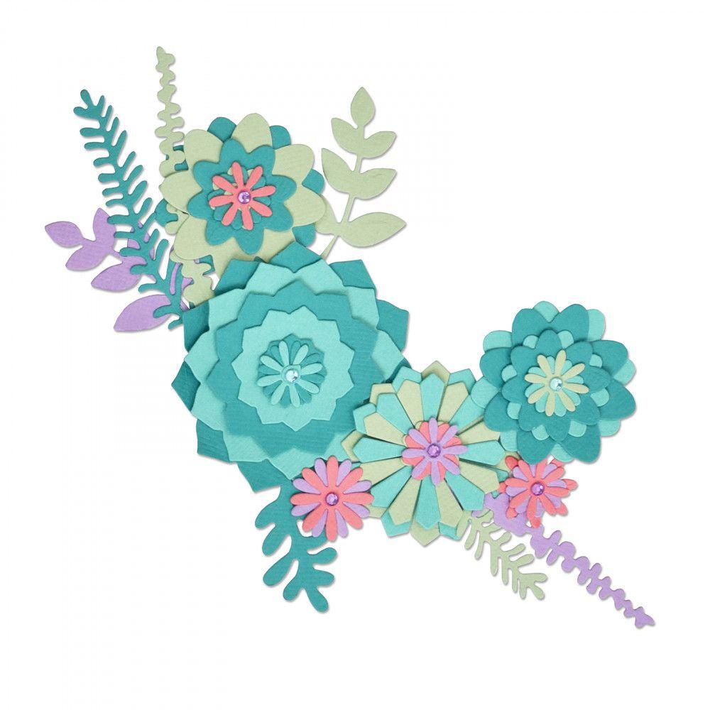 Sizzix Thinlits Die Set 15PK - Succulent Wreath -663366