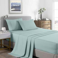 (DOUBLE) Royal Comfort 2000 Thread Count Bamboo Cooling Sheet Set Ultra Soft Bedding  - Frost