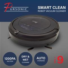 Pursonic i9 Robotic Vacuum Cleaner Carpet Floor Dry Wet Mopping Auto Robot Black