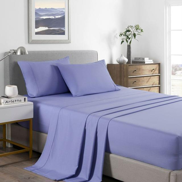(KING SINGLE) Royal Comfort 2000 Thread Count Bamboo Cooling Sheet Set Ultra Soft Bedding - Mid Blue