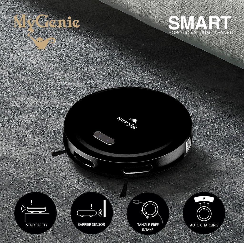 MyGenie Smart Robotic Vacuum Cleaner App Controlled Carpet Floors Auto Robot