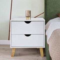 Milano Decor Bedside Table Turramurra Drawers Nightstand Unit Cabinet Storage