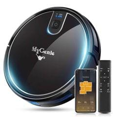 MyGenie XSonic Wifi Pro Robotic Vacuuum Cleaner Carpet Wet Dry Mopping Black