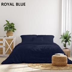 Royal Comfort 1000 Thread Count Bamboo Cotton Sheet and Quilt Cover Complete Set - Queen - Charcoal