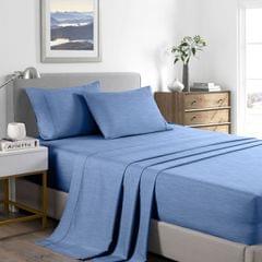 Casa Decor 2000 Thread Count Bamboo Cooling Sheet Set Ultra Soft Bedding - King - Denim