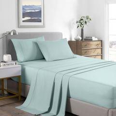 (QUEEN)Casa Decor 2000 Thread Count Bamboo Cooling Sheet Set Ultra Soft Bedding - Queen - Frost