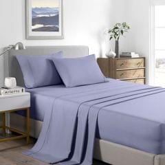 (QUEEN)Casa Decor 2000 Thread Count Bamboo Cooling Sheet Set Ultra Soft Bedding - Queen - Lilac Grey