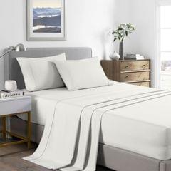 (KING)Royal Comfort 2000 Thread Count Bamboo Cooling Sheet Set Ultra Soft Bedding - King - Natural