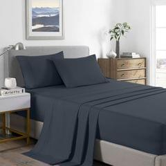 (KING)Royal Comfort 2000 Thread Count Bamboo Cooling Sheet Set Ultra Soft Bedding - King - Charcoal