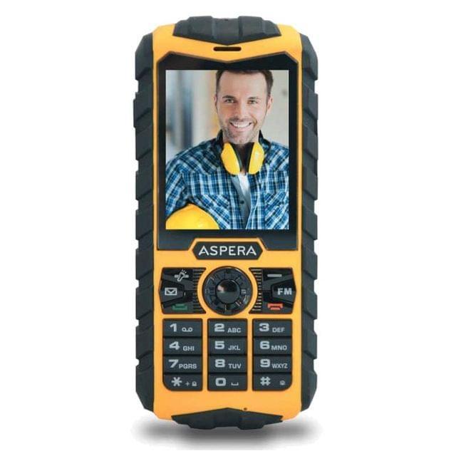 ASPERA R25 TOUGH TRADIE PHONE Yellow