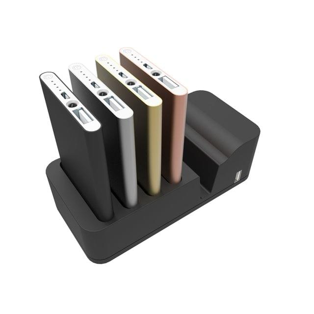 Power Bank Charging Station Black