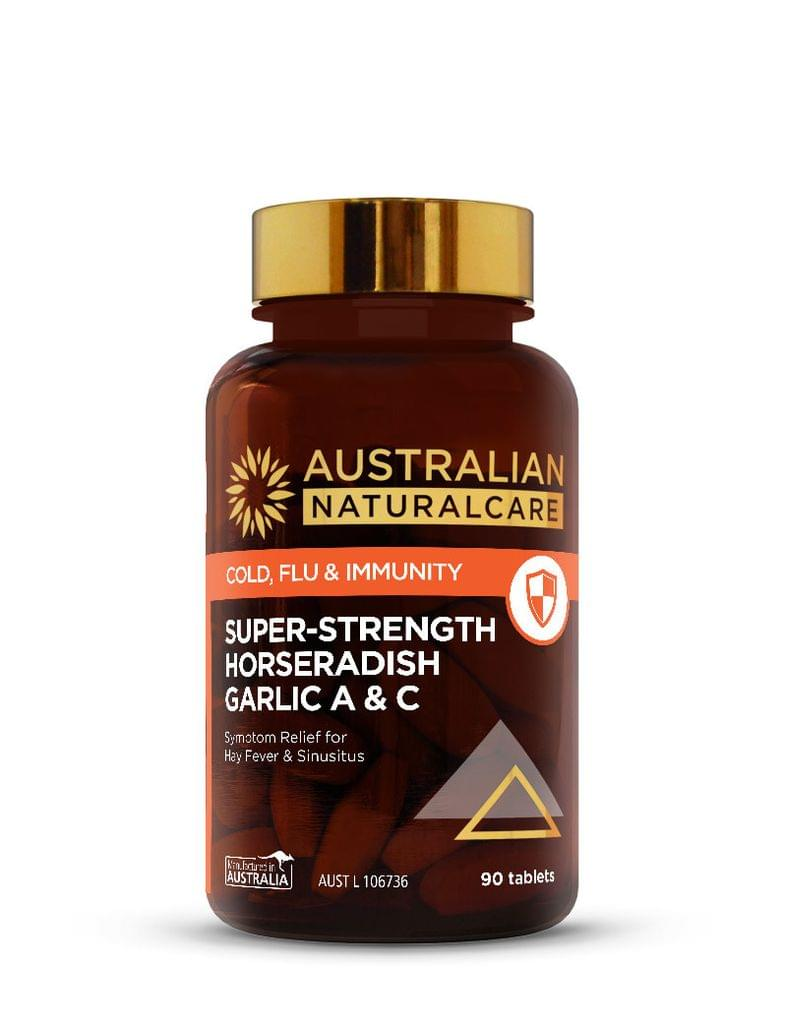 Super-Strength Horseradish Garlic A & C 90 Tabs