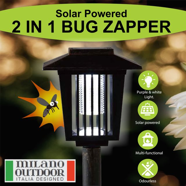 2 in 1 Solar Garden Light / Bug Zapper