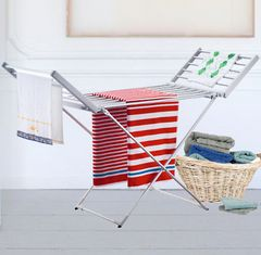 Heated Clothes Drying Rack with Wings